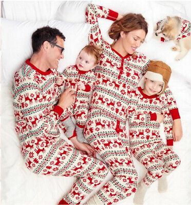 Christmas Parent-Child Suit Printing Pajamas Home Service Two-Piece Xmas Gift