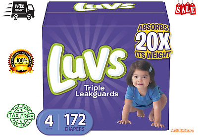 Size 4 Luvs Ultra Leakguards Disposable Baby Diapers,198Count,ONE MONTH SUPPLY