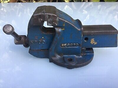 "RECORD No 00 BENCH VICE 2.25"" JAWS OPENS TO 2.5"" SMALLEST RECORD VICE MADE"
