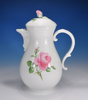 Meissen Red Rose Coffee Pot 1,2 Litre 1.Wahl