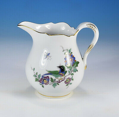 "Meissen "" Indian Flowers and Bird "" Small Milk Jug 1.Wahl"