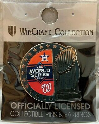 Houston Astros Washington Nationals 2019 World Series Trophy Collector Pin