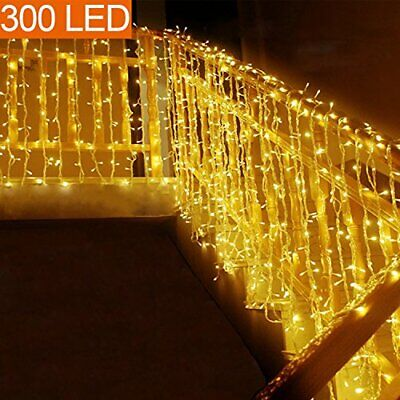 MOVEONSTEP Guirnaldas de Luces 300 LED 33m Guirnalda Luminosa Blanco Cálido 8