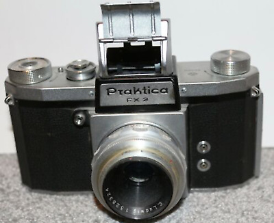 Vintage Praktica Fx2 35Mm Eye Level/Waist/Magnifier/Sports Finder