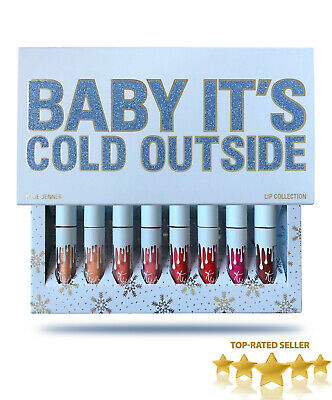*NEW* 2018 KYLIE COSMETICS Baby It's Cold Outside Mini Lip Set Of 8 *BRAND NEW*