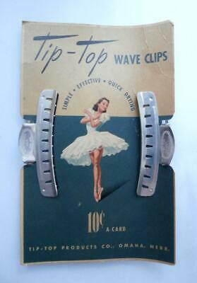BNIP Vintage 1930's 2 x Aluminium Marcel Wave Hair Clips by Tip-Top  Deadstock