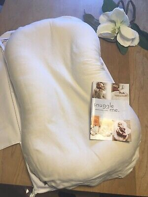 Snuggle Me Organic Original Infant Lounger with Natural Cover and Carrying Case