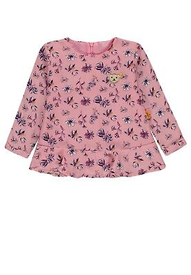 18/19 - Steiff Frosted Flowers Blouse/Tunic, Rose Patterned Size 92