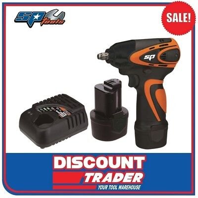 "SP Tools Cordless Lithium-Ion 12V 3/8"" Drive Mini Impact Wrench Kit - SP81112"