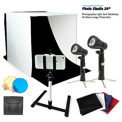 Photography Portable Light Room Box Lighting Tent Kit with iPhone Samsung Tripod