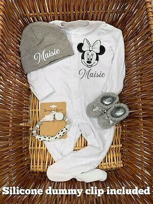 SPECIAL OFFER BABY Dumbo  blanket sleep suit Babygrow hat set Booties ANY NAME