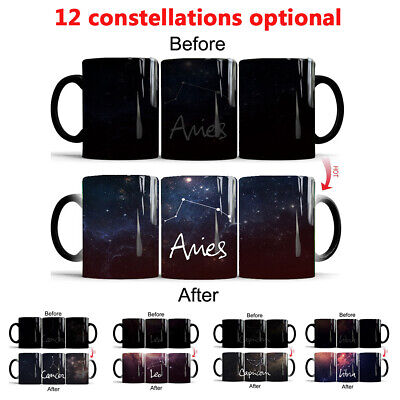 Personalised 12 Constellation Mug Heat Colour Changing Ceramic Mugs Magic