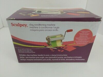 Sculpey AS2174 Clay Conditioning Machine, Handle, Clamp, Stainless Steel NEW