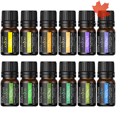 Essential Oils Set Top 12 100 Pure Aromatherapy Secented Oil Kit 12 x 5 ml La...