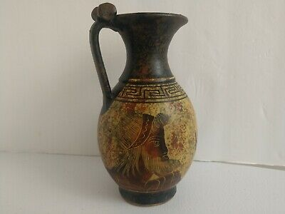 Greek Clay Pitcher Classic Period 450 BC Reproduction Poseidon & Amphitrite Gods