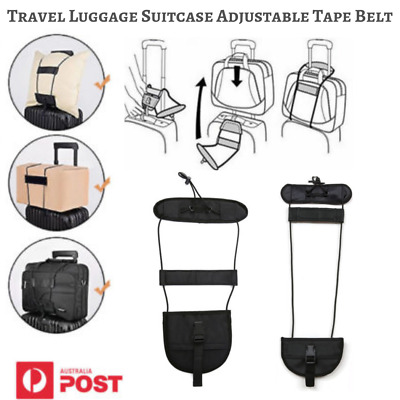 Travel Luggage Suitcase Adjustable Tape Belt Add A Bag Strap Carry On Bungee AU