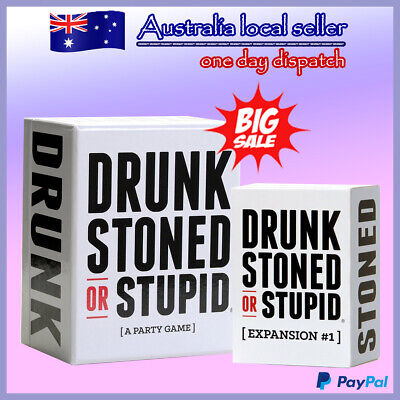 New Drunk Stoned Or Stupid Main Set with Expansion 1 Card Game for Party