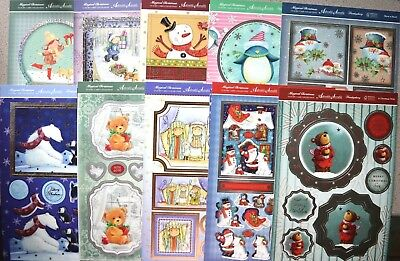 Magical Christmas Foiled A4 Hunkydory Toppers & Matching A4 Card NEW