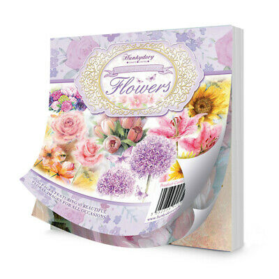 Hunkydory - The Square Little Book of Flowers - LBSQ101 NEW