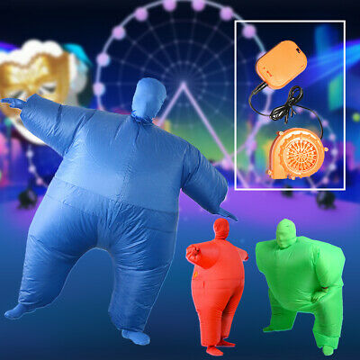 Teens Inflatable Suit Chub Fat Fancy Dress Costume Blow Up Cosplay Party New