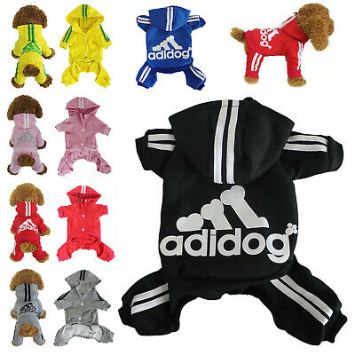 Adidog Jumpsuit Hoodie Sweatshirt Sweater 4 Legs Apperal for Pet Dog Cat Puppy