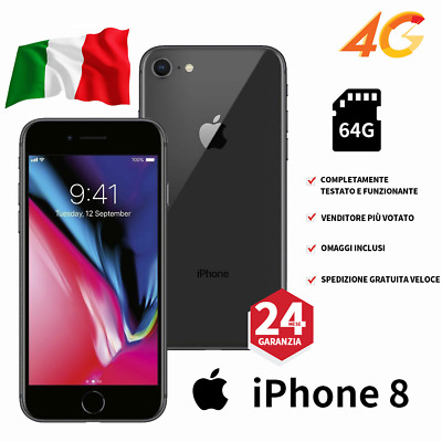 Apple Iphone 8 64Gb Nero Gray Nuovo Originale Garanzia 12 Mesi 64 Gb