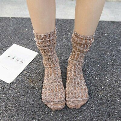 Women Unisex Warm Thick Cotton Breathable Ankle-High Sports Socks Dress Sock