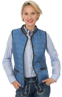 Spieth Wensky Traditional Costume Outdoor Vest Herma Quilted / Walk Blue