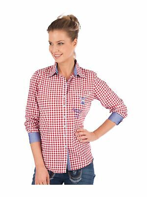 Orbis Traditional Costume Blouse Corinna Checkered Red
