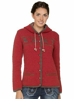 Stockerpoint Traditional Knitted Jacket Ornella Red