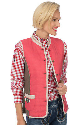 Spieth Wensky Traditional Costume Outdoor Vest Herma Quilted / Walk Red