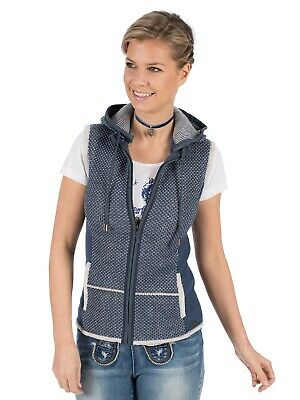 Spieth Wensky Traditional Costume Vest Kulm Sw Jeans Blue