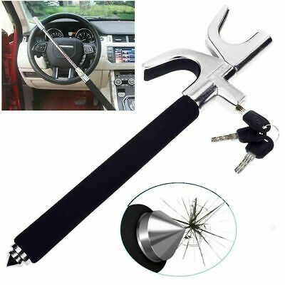 Heavy Duty Car Steering Wheel Lock Anti Theft Clamp Security Safety Lock Hook UK