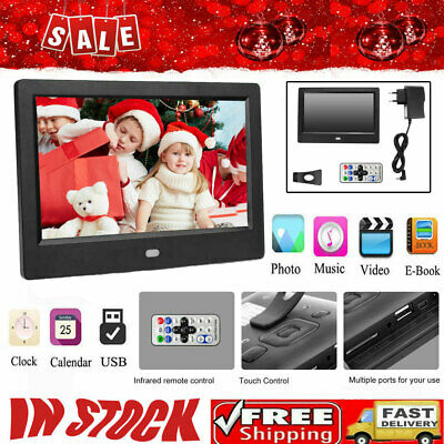 """7"""" Screen HD LED Digital Photo Frame Electronic Picture Album +Remote Accessory"""
