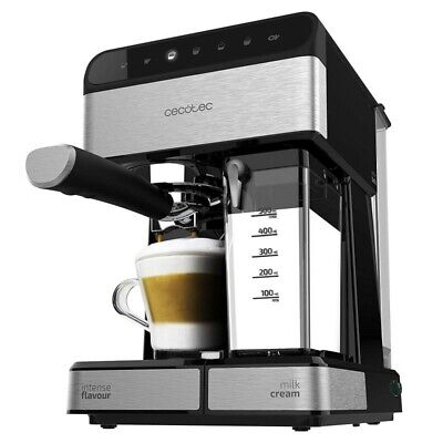 Cecotec Power Instant-ccino Touch Serie Nera Cafetera Semiautomática,Tanque Lech
