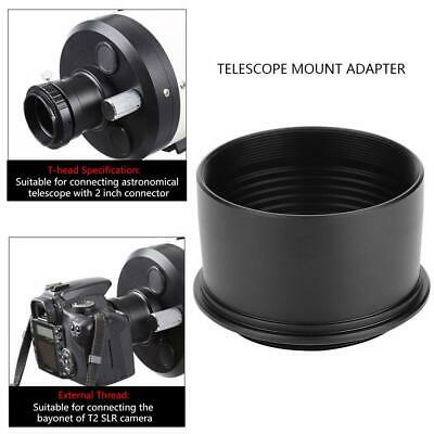 "2"" to T2 M42*0.75 Thread Telescope Eyepiece Camera Accessory Mount Adapter Black"