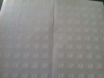 Macdonalds 120 Loyalty White Coffee Bean Stickers (24 cups)