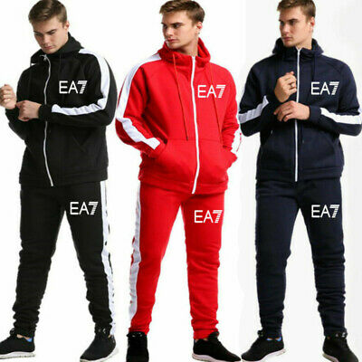 Mens Tracksuit Set Hoodie Top Bottoms Trousers Jackets Sports Track Suit Jogging