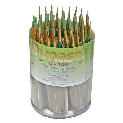 Dynasty Emerald Synthetic Student Brush Assortment