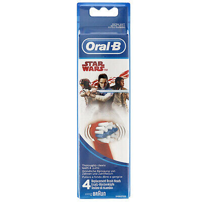 NEW Oral-B Kids Stages Power Star Wars Replacement Heads 4 Pack