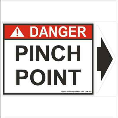 Pinch Point Safety Sticker Printed with Detachable Arrow