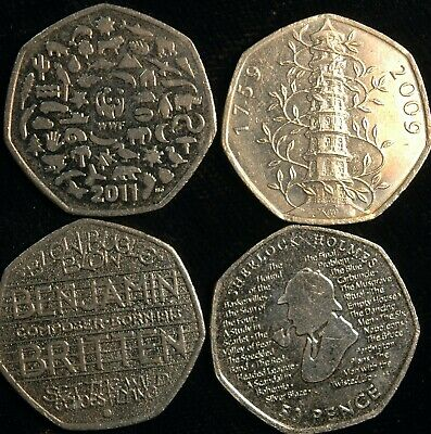 Fifty Pence 50p 1998 - 2019 Choose Your Date - Great British Coin Hunt (T7-8)