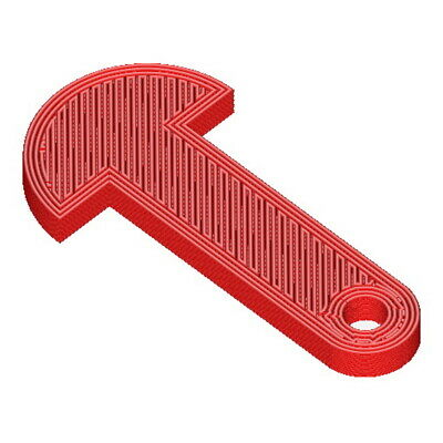 Trolley release keys for UK Pound supermarket shopping carts red