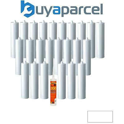 Everbuild Everflex 200 Contractors LMA Silicone White 295ml Size Pack of 25