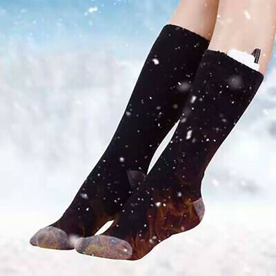 1 Pair Rechargeable Electric Heating Heated Winter Feet Warmer Thermal Socks