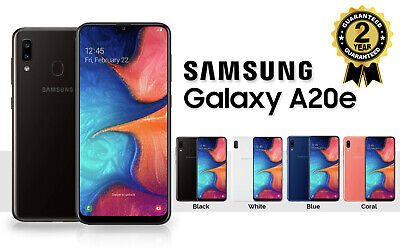 New Samsung Galaxy A20E Sm A202F 2019 Dual Sim 32Gb 4G Lte Unlocked Phone Sealed