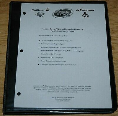 online here best choice running shoes BALLY MIDWAY PINBALL Parts Catalog Binder, Nice Shape ...