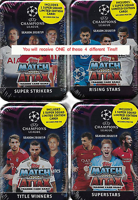 Match Attax 2018 2019 Topps UEFA Champions League Card Game MEGA Collectors Tin