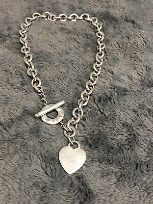 TIFFANY & CO Sterling Silver .925 Necklace w/ Heart Charm (24735-1)