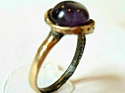 X-Mas Gifts,Detector Find,200-400 A.d Roman Ae Ring With Real Gemstone.polished.